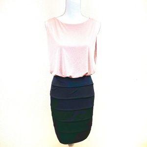 En focus Studio Black x Pink Cocktail Dress Size 4